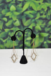 LONG EARRINGS IN GOLD & SILVER