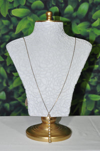 PEARL BAR PENDANT NECKLACE