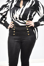 ZEBRA WIDE WAIST BAND TOP