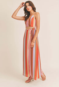 (Pre-Order) CUT OUT STRIP MAXI DRESS
