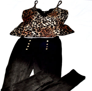 ANIMAL PRINT CAMISOLE WITH CROCHET