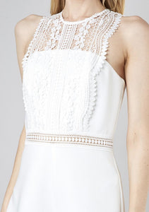 LACE DETAIL SLEEVELESS ROMPER