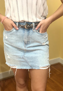 MINI SKIRT WITH DESTROYED HEM