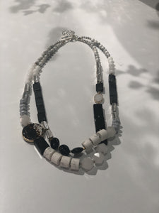 ASSORTMENT OF PEARLS AND DIAMONDS NECKLACES
