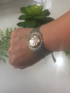 TRENDY WRAP AND METAL BRACELET