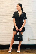 ROMPER WITH OFF WHITE TRIMMING
