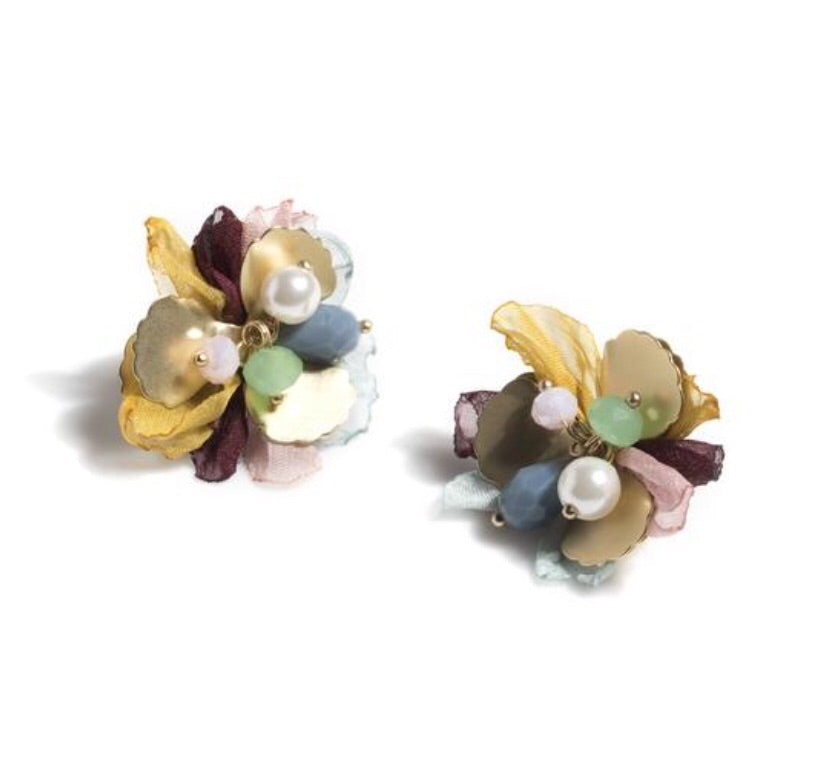 EARRINGS, BLOOM MULTI COLOR