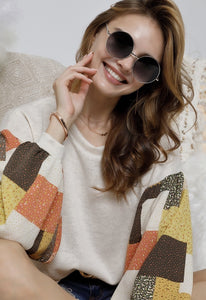 ROUND NECK LONG SLEEVE MULTI COLOR TOPS