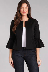SOLID, WAIST LENGTH JACKET IN A RELAX FIT