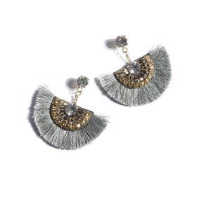 EARRINGS, CORINNE SILVER
