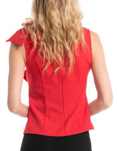 BIG RUFFLED RIBBON SLEEVELESS TOP
