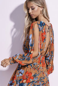LIGHT AND BREATHABLE FLORAL DAY DRESS