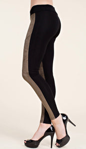 LEGGINS WITH SUEDE FRONT