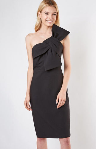 BOW DETAIL ONE SHOULDER DRESS