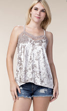 CAMISOLE TANK TOP W/LACE TRIM