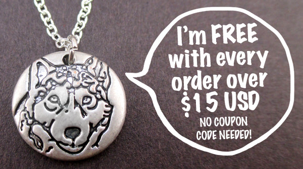 Free Cute Wolf Necklace on DOTOLY