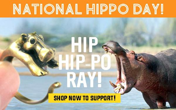 It's National Hippo Day! Shop today for 15% off!