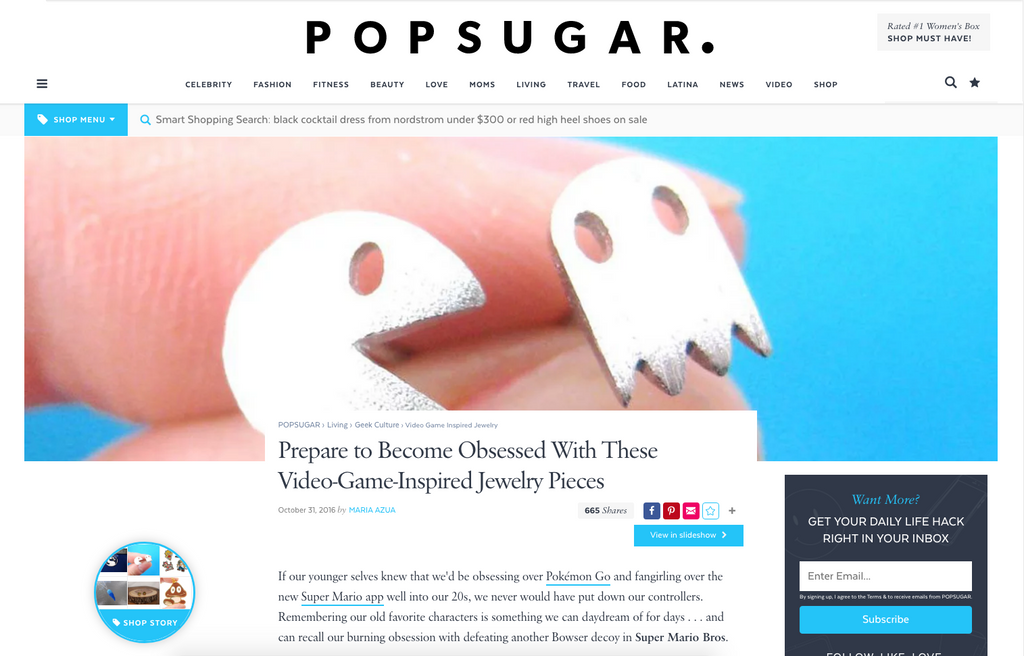 DOTOLY Animal Jewelry on PopSugar!
