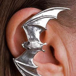 Bat Shaped Animal Wrap Ear Cuff Earring in Black | Animal Jewelry