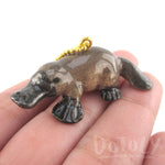 3D Porcelain Platypus Shaped Ceramic Pendant Necklace | DOTOLY