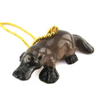 DOTOLY Handmade Porcelain Platypus Necklace Ceramic