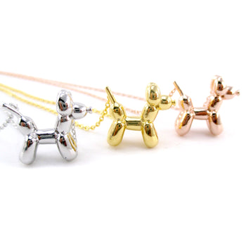 3D Balloon Dog Sculpture Balloon Twisted Animal Necklace