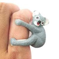 3D Koala Bear Figurine Shaped Animal Wrap Ring for Kids | US Size 3 to 5 | DOTOLY