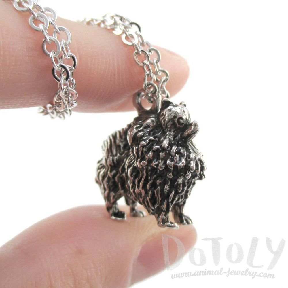 3D Pomeranian Pom Puppy Dog Shaped Animal Pendant Necklace | Jewelry for Dog Lovers | DOTOLY