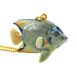 DOTOLY Handmade Porcelain Colorful Tropical Angel Fish Ceramic Necklace