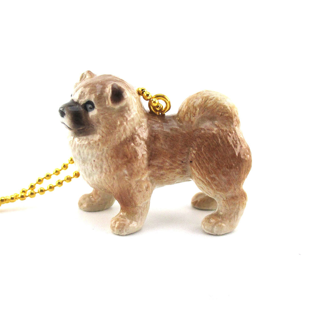 DOTOLY Handmade Porcelain Chow Chow Necklace Ceramic