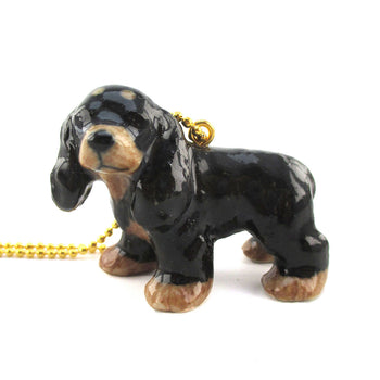 DOTOLY Handmade Porcelain Cocker Spaniel Necklace Ceramic