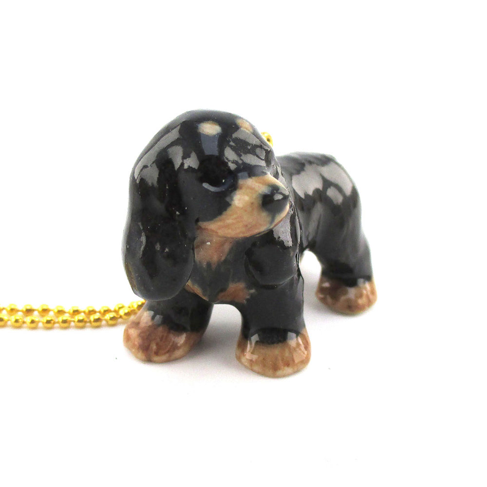 3D Cocker Spaniel Porcelain Pendant Necklace by DOTOLY