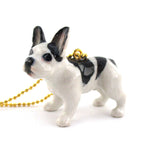 DOTOLY Handmade Porcelain Frenchie French Bulldog Necklace Ceramic