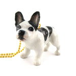 3D Porcelain French Bulldog Dog Animal Shaped Ceramic Pendant Necklace