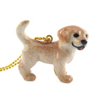 3D Golden Retriever Puppy Shaped Porcelain Necklace by DOTOLY