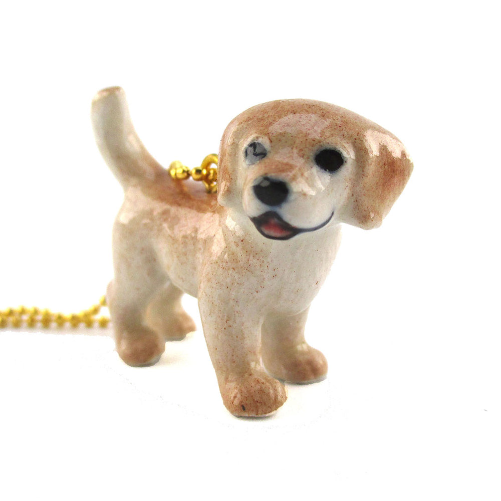 3D Adorable Golden Retriever Puppy Pendant Necklace Handmade