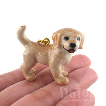 Golden Retriever Puppy Jewelry Necklace by DOTOLY