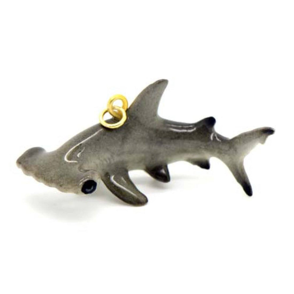 3D Porcelain Hammerhead Shark Shaped Ceramic Pendant Necklace | DOTOLY