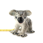 DOTOLY Handmade Porcelain Koala Bear Necklace Ceramic