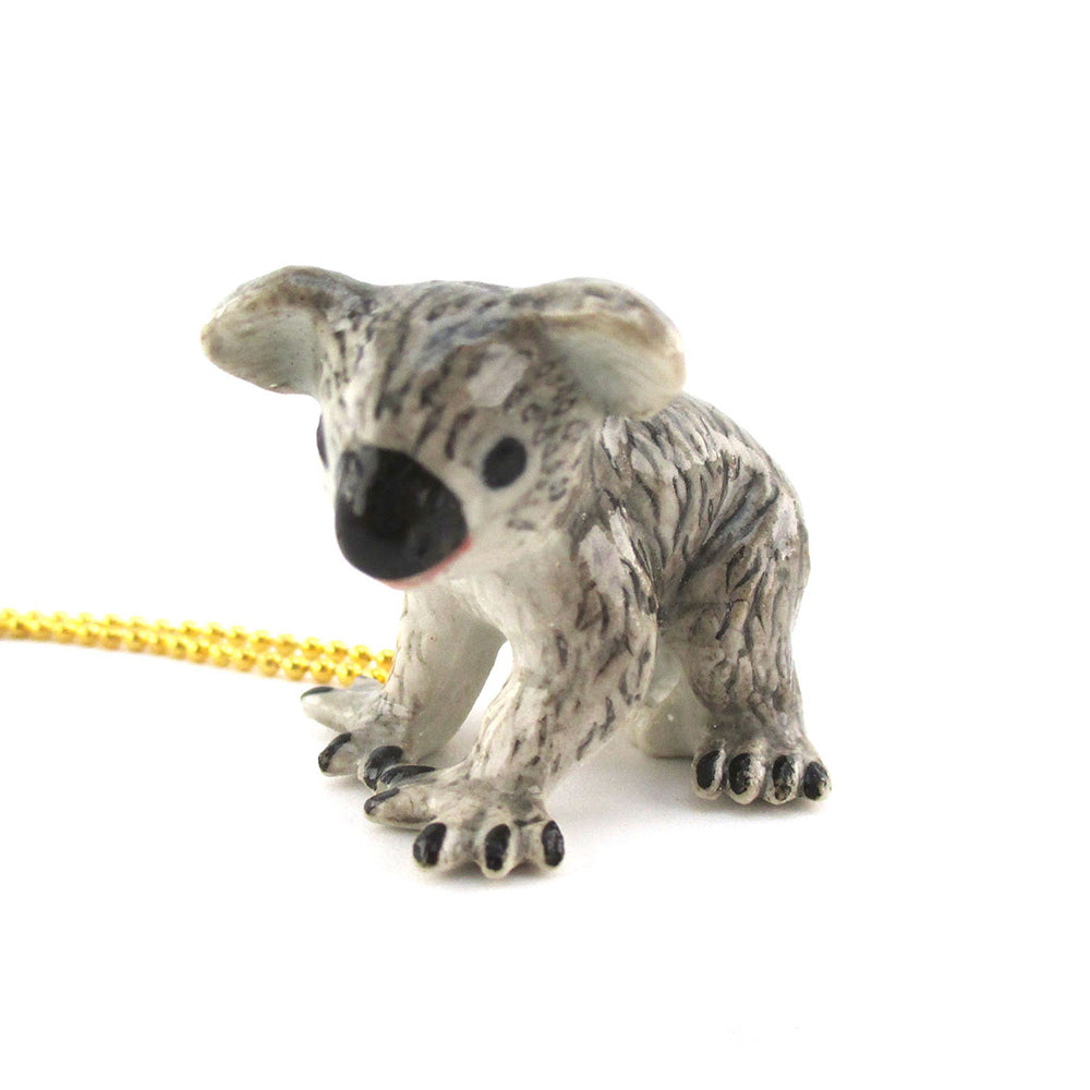 3D Porcelain Koala Bear Shaped Ceramic Pendant Necklace | DOTOLY