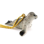DOTOLY Handmade Porcelain Sea Lion Ceramic Necklace