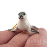 3D Porcelain Monk Seal Shaped Ceramic Pendant Necklace