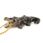 Crocodile Alligator Shaped Porcelain Pendant Necklace by DOTOLY