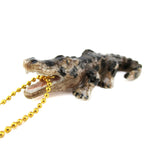 3D Porcelain Open Mouth Alligator Shaped Ceramic Pendant Necklace