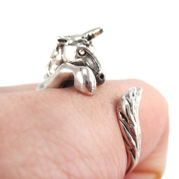 3D Unicorn Shaped Animal Wrap Ring in 925 Sterling Silver | DOTOLY
