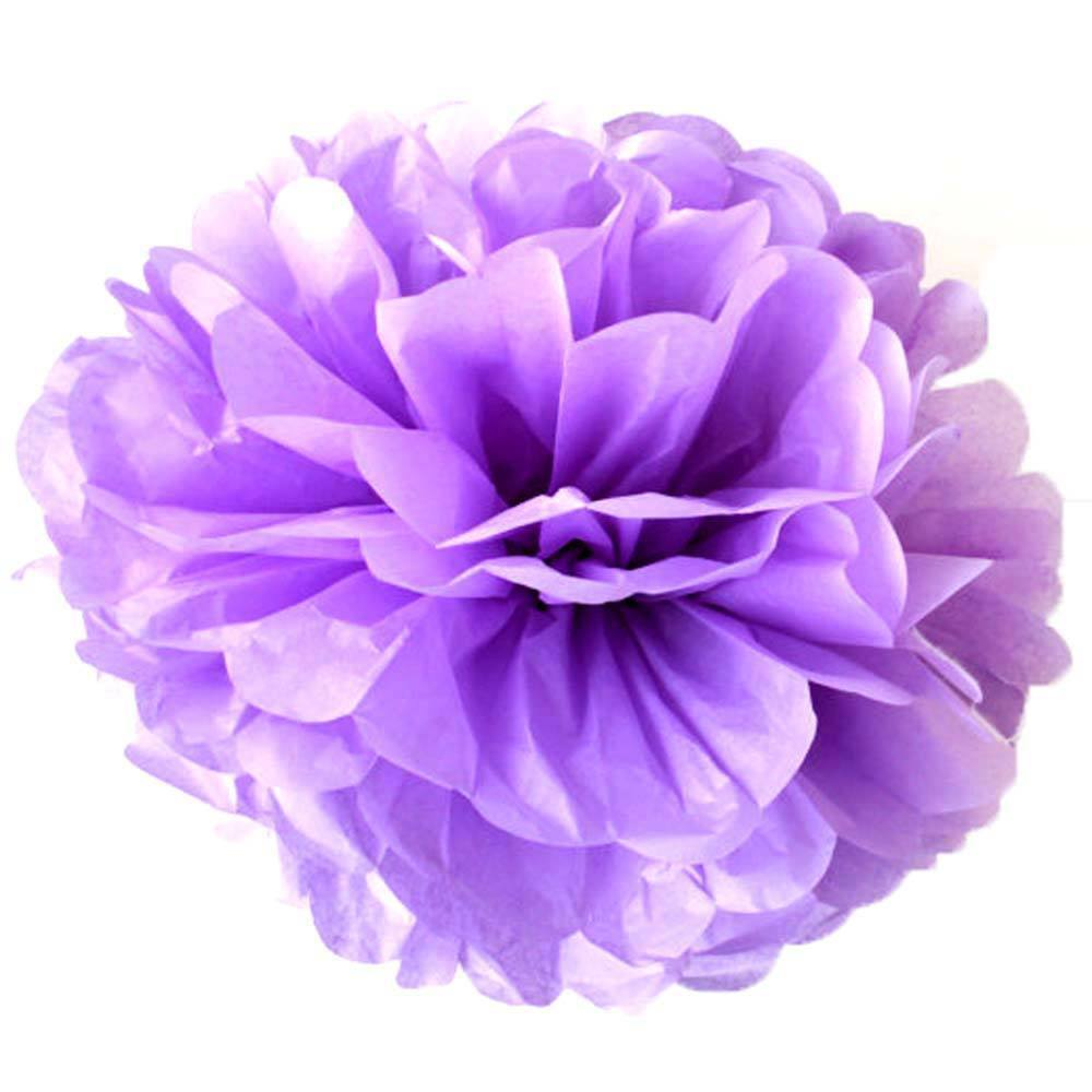 7 Mixed Large Sized Tissue Paper Pom Pom Ready To Ship Package | Shades of Purple | DOTOLY