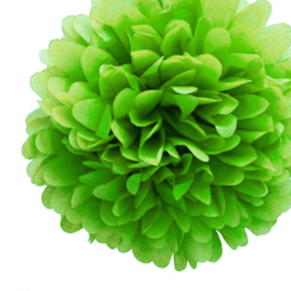 8 Tissue Paper Pom Pom Ready To Ship Package | Shades of Blue & Green | Wedding Party Decor | DOTOLY