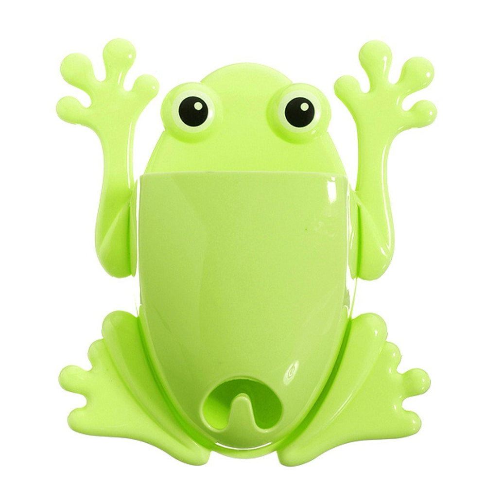 Cute Frog Shaped Toothbrush Holder Make Up Bathroom Organizer in ...