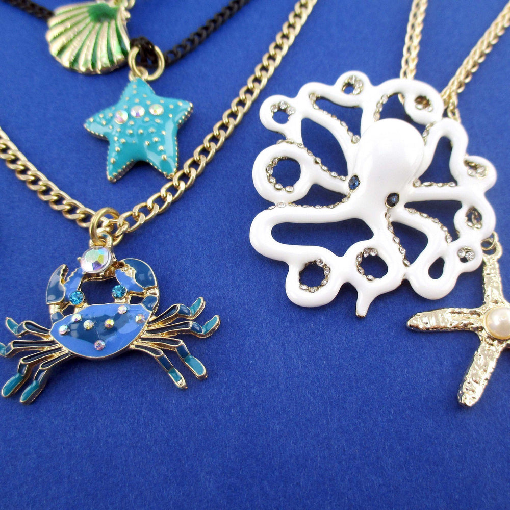 marine-life-inspired-octopus-sea-creatures-charm-necklace-3-piece-bundle-set