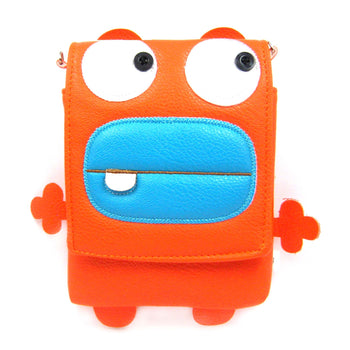 Toothy Monster Small Cross Body Shoulder Bag Purse in Orange | DOTOLY
